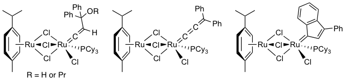 deactivation of ru-benzylidene grubbs catalysts active in olefin metathesis Grubbs' catalysts are a series of transition metal carbene complexes used as  catalysts for olefin  in the 1960s, ruthenium trichloride was found to catalyze  olefin metathesis  these ill-defined but highly active homogeneous catalysts  remain in  in the hoveyda–grubbs catalysts, the benzylidene ligands have a  chelating.